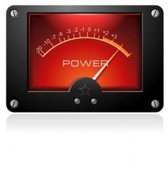 Red analog meter vector