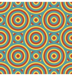Retro Circles Seamless Pattern vector image