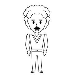 Retro man cartoon vector