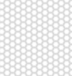 Seamless White Hexagon Texture vector image vector image
