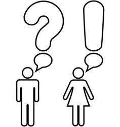 symbol man woman vector image vector image