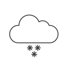 thin line snow rain icon vector image vector image