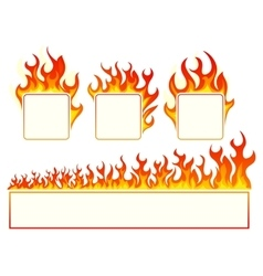 Burning square frame vector