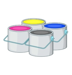 Printer ink icon cartoon style vector