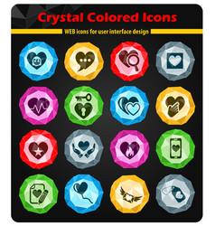 Heart love icon set vector