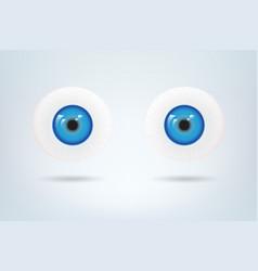 Human blue eyes balls pupil medical visual vector