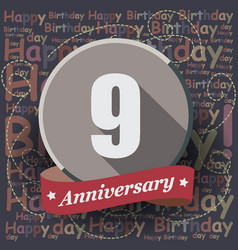 9 happy birthday background or card vector