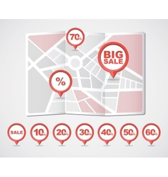 Mapping pins icons sale vector
