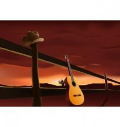 prairie sunset vector image