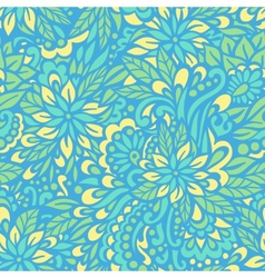 Blue flowers seamless decorative pattern vector