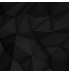 Black abstract polygonal background vector