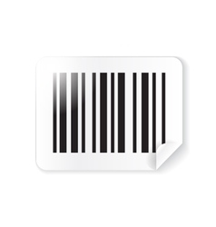 Barcode sticker label vector