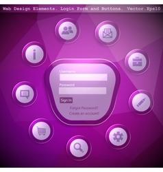 Web design elemets vector image