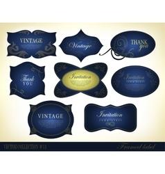 Retro vintage style label vector