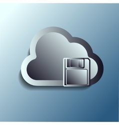 Steel 3d clouds storage vector