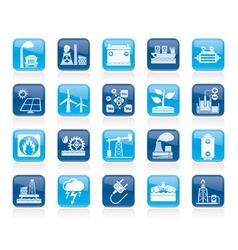 Electricity and Energy source icons vector image