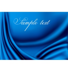 Elegant blue satin texture vector