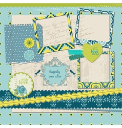 Scrapbook Design Elements - Vintage Tile with fram vector image