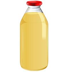 A bottle of orange juice vector