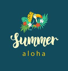 Aloha summer modern poster design vector