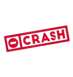 Crash rubber stamp vector image vector image