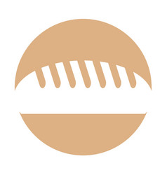 Delicious bread isolated icon vector