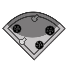Delicious pizza flat icon vector