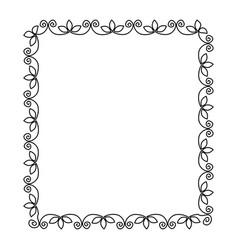 elegant victorian with square shape frame vector image vector image