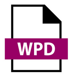 File name extension wpd type vector