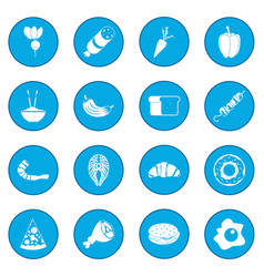 Food icon blue vector