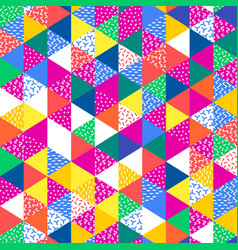 Geometric abstract seamless pattern simple vector