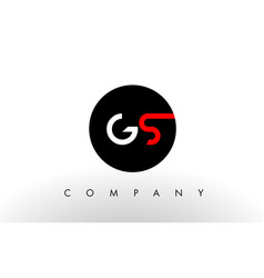 gs logo letter design vector image vector image