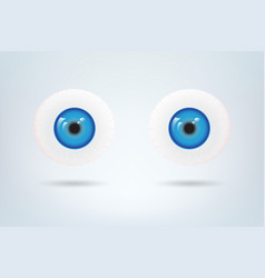 Human blue eyes balls pupil medical visual vector