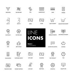 Line icons set e-commerce vector
