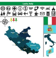 Map of Lazio vector image