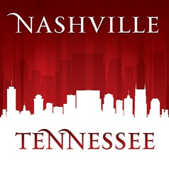 Nashville tennessee city skyline silhouette vector