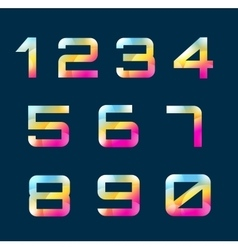 Numbers 1-9 letters vector image