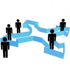 organization arrows vector image