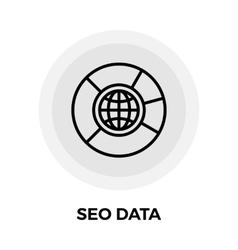 SEO Data Line Icon vector image