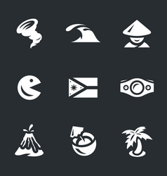 set of philippines icons vector image vector image