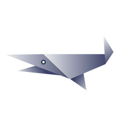 Simple fish origami figurine vector