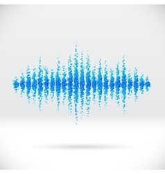 Sound waveform made of scattered balls vector image