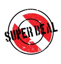Super deal rubber stamp vector