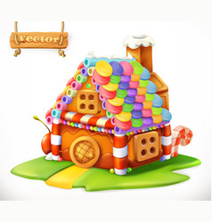 Sweet house 3d icon vector