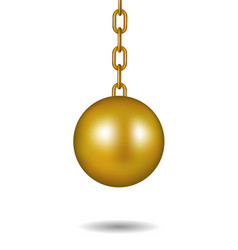 wrecking ball in gold design vector image