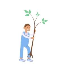 young volunteer man vector image