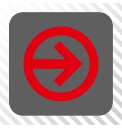 Direction right rounded square button vector