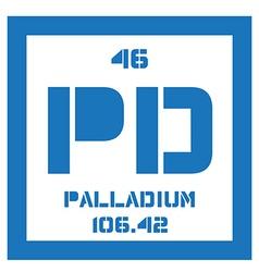 Palladium chemical element vector