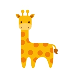 Cute giraffe animal icon vector