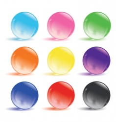Glass balls vector